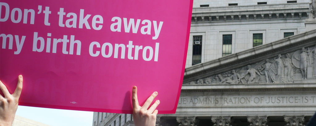 Sign at Planned Parenthood Rally, NYC 2011. Source: Flickr.